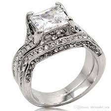 square shaped rings images Best vintage 10kt white gold filled 2ct square shape diamond cz jpg