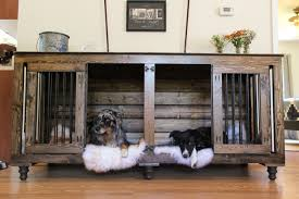 dog kennel side table the double doggie den indoor rustic dog kennel for two with regard