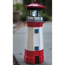solar lighthouse with rotating figurine lights l ebay