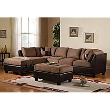 claire leather reversible sectional and ottoman amazon com 3 piece modern reversible microfiber faux leather with