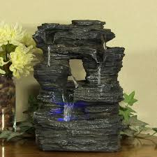 indoor home decor tabletop falls rock water fountain by