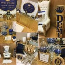 royal blue and gold baby shower decorations blue gold royal baby shower candy buffet crown pillow cake nae s