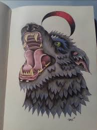 neo traditional wolf by tazza pufe on deviantart