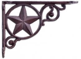 rustic shelf bracket cast iron brace custom shelves