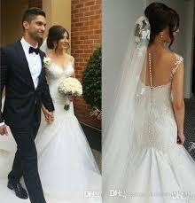 discount vintage lace 2016 wedding dresses mermaid beads elegant