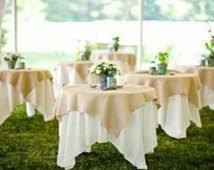 wedding table cloths burlap jute overlay rustic wedding tablecloth burlap