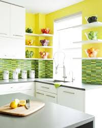 white kitchen cabinets yellow walls 20 modern kitchens decorated in yellow and green colors