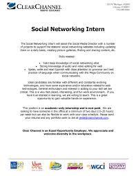 It Internship Resume Social Media Resumes Resume For Your Job Application
