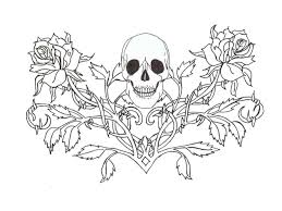 sugar skull and rose coloring pages skull and roses coloring page
