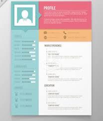 unique resume templates download 35 free creative resume cv
