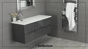 Floor Mounted Vanity Units Bathroom Vermont 800 U0026 400 Gloss Grey Wall Mounted Vanity Unit And 1200
