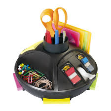 Desk Top Organizer by 3m Post It C91 Rotary Desktop Organizer Black