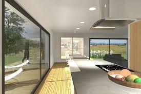 cuisine maison bois maison ossature bois avec cuisine ouverte