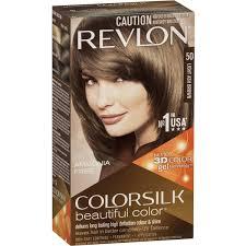 Revlon Colour Silk Hair Colour 50 Light Ash Brown Each Woolworths
