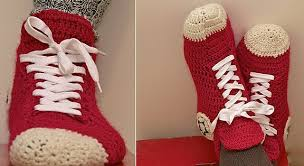 pattern crochet converse slippers free pattern video tutorial super fun and super easy crochet