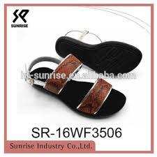 Comfortable Sandal Brands Flat Strap Pu Sole Comfortable Sandals Shoes Women 2017 Woman