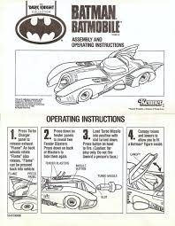 kenner the dark knight collection u2013 batmobile manual