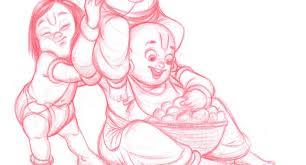 dattaraj kamat animation art krishna leela