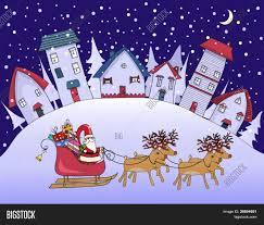 silent night christmas village vector u0026 photo bigstock