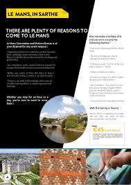 le bureau le mans groups brochure 2015 2016 gb le mans tourist office