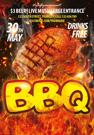 bbq tickets template the bbq psd flyer template