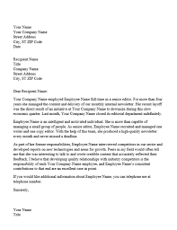 Reference Letter reference letter for professional employee office templates