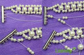 pearls bracelet diy images How to make white wedding pearl bracelet for bride jpg