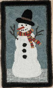 Snowman Rug Hooked Rug Kits