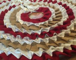 burlap tree skirt burlap tree skirt etsy