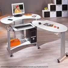 Computertisch Rollen Arbeitstisch Kinderzimmer Tisch Büro Drehbar Rollen Computertisch