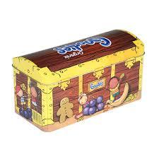tinpac organix goodies treasure chest biscuit tin tinpac