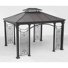 Discount Gazebos by Gazebos Sheds Garages U0026 Outdoor Storage The Home Depot