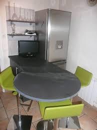 table de cuisine avec plan de travail plan de travail cuisine arrondi with newsindo co