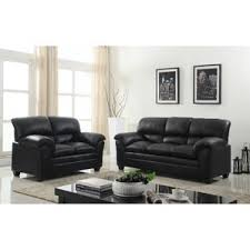 faux leather living room sets you u0027ll love wayfair