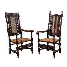 Dining Room Arm Chairs by Pair Of English 17th Century Barley Twist Arm Chairs For Sale At