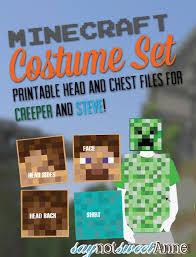 Halloween Minecraft Costume Minecraft Printable Costume Sweet Anne Designs