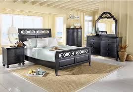cindy crawford bedroom set picture of cindy crawford home seaside black 5 pc queen sleigh
