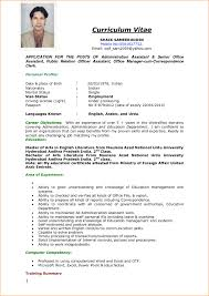 8 sle of curriculum vitae for job application pdf basic how to