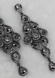 black chandelier earrings black chandelier earring sassy collections