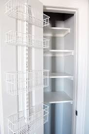 Container Store Bookcase 74 Organized Linen Closet Container Store Closet Doors And