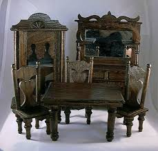 Dollhouse Dining Room Furniture Tracy S Toys And Some Other Stuff Antique Dollhouse Dining Room Set