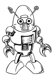 free printable robot coloring pages coloring pages kids