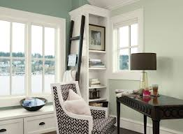 green home office ideas crisp home office corner paint color