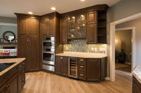 stained kitchen cabinets with hardwood floors traditional kitchen remodel in indiana stained cabinets