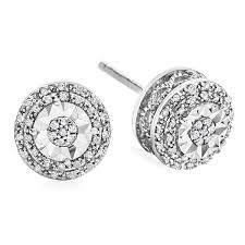 stud earrings images limited time special 1 10 ct tw halo diamond stud earrings