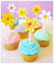 Cute Easter Cupcake Decorations by Teacup Crafts Easter Ideas Spring Wedding Ideas Daffodils