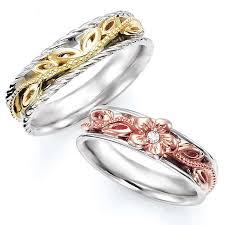 2 wedding bands e valuejewelry rakuten global market pairing set of 2 wedding