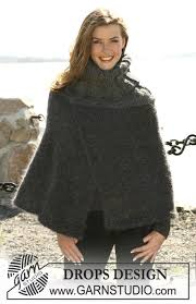 drops design poncho drops 104 15 drops poncho with high neck and cables in vienna