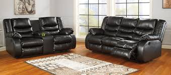 Durablend Leather Sofa Furniture 95202 88 94 2 Pc Linebacker Collection Black