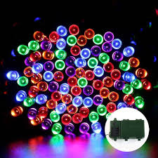 200 led multi color string lights with timer battery